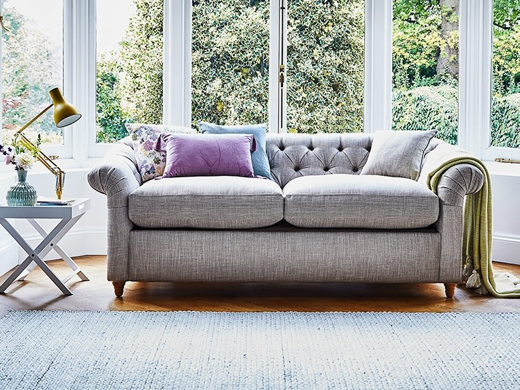 This is how I look in House Linen Vintage Grey with siliconized hollow fibre or feather-wrapped foam seat cushions