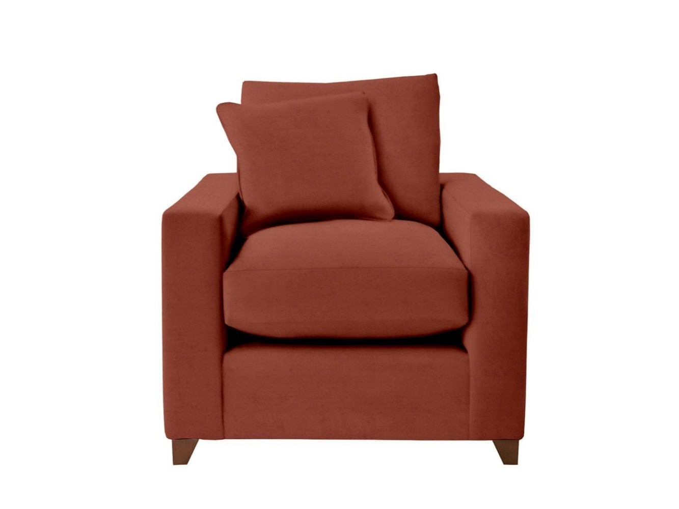 This is how I look in House Velvet Umber (Discontinued Fabric) with silliconized hollow fibre seat cushions