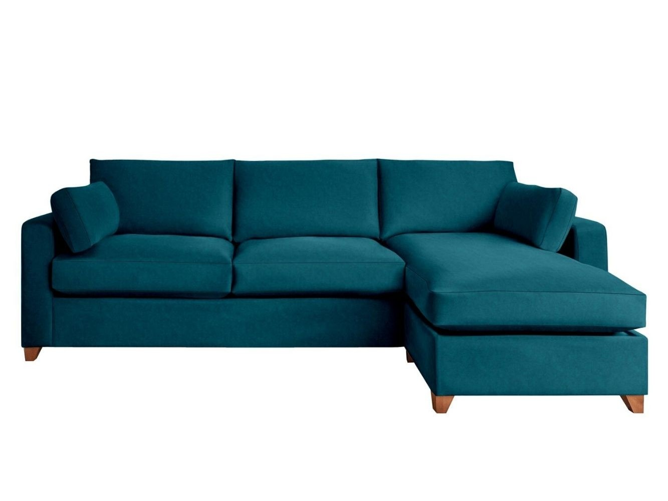 This is how I look in Cotton Velvet Celadon with feather-wrapped foam seat cushions