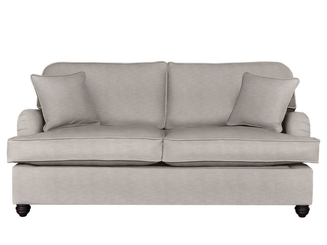 This is how I look in Stain Resistant Cotton Lavender Grey (Discontinued Fabric) with siliconized hollow fibre seat cushions