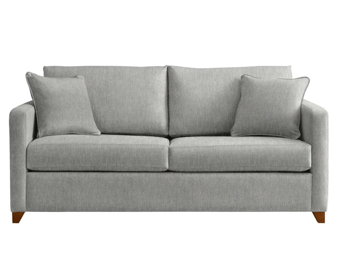 This is how I look in Stain Resistant Broad Weave Linen Silver with reflex foam seat cushions