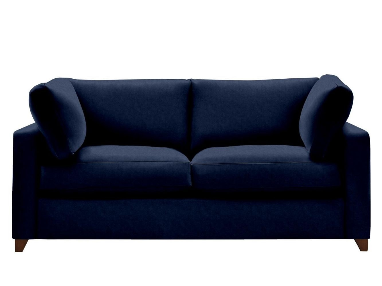 This is how I look in Cotton Velvet Admiral with feather-wrapped foam seat cushions